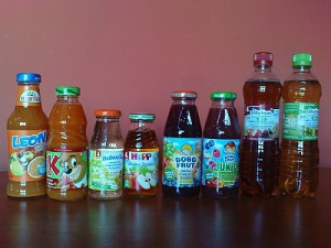 soki, nektary dla dzieci
