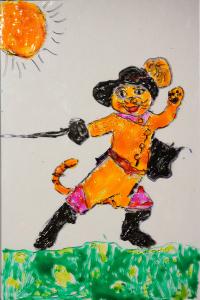 Ewa Brzoza Kraków, malowanie na szkle, lena 7 lat
