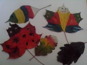 pomalowane liście