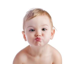 kissing baby boy