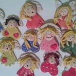 Mikołaje i anioły z masy solnej