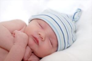 gorgeous newborn baby sleeping