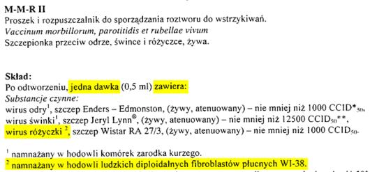 Ulotka MMR - źródło dobreszczepionki.pl