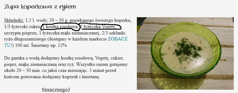 przepis na zupke