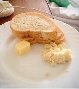 Jajecznica na śniadanie. Przypuszczam, że w więzieniu karmią lepiej