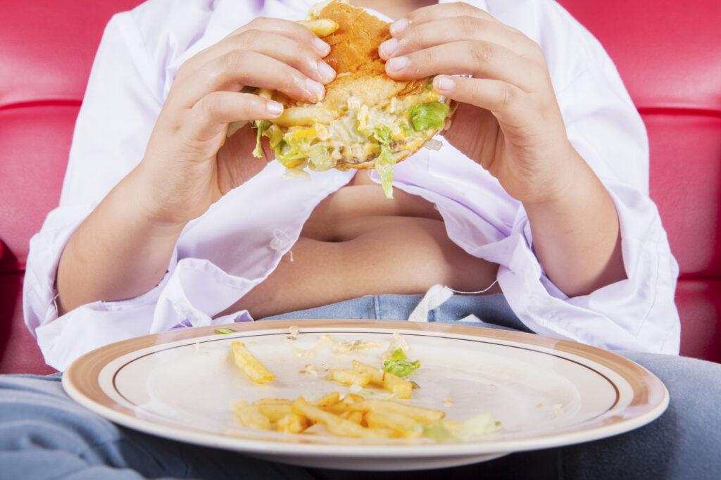 dziecko za dużo je